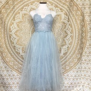 ASOS Lace Cami Tulle Maxi Dress